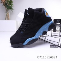 Air Jordan 13 Retro Black Light Blue Sneaker - Best Deal Online