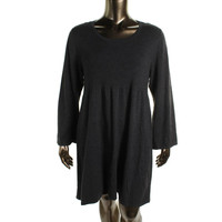 Style & Co. Womens Plus Knit Scoop Neck Sweaterdress