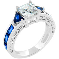 Sapphire Blue Regal Ring, size : 08
