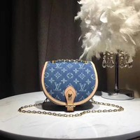 HCXX 19June 483 Louis Vuitton LV Jeans Element Handbag 18-19-8 blue