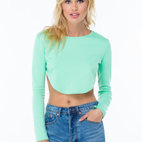 That's Extreme High-Low Crop Top