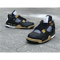 Air Jordan 4 black gold Basketball Shoes 40-47
