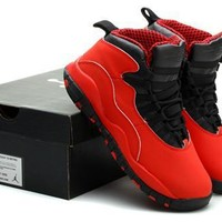 New Air Jordan 10 Retro Kids Shoes Red Black Yellow