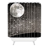 Shannon Clark Love Under The Stars Shower Curtain