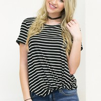 Knot Today Top | Black&White
