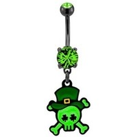 Irish Skull Belly Button Ring