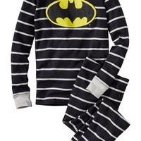Boy's Hanna Andersson 'Batman' Organic Cotton Two-Piece Fitted Pajamas,