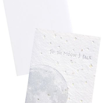 To the Moon & Back Seed Paper Card