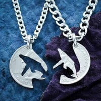 Humpback Whale Necklaces for Best Friends and Couples