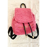 Vegan Shearling Backpack
