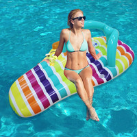 New arrival 158*70cm Inflatable slipper Floating Mat Row Beach Mat Thick, ADULT CHAIR FLOAT / SWIMMING POOL BED & RAFT FLOAT