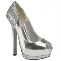 Ashlee Silver Wedding Shoes - Pink By Paradox
