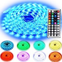 Led Strip Lighting 10M 32.8 Ft 5050 RGB 300LEDs Flexible Color Changing Full Kit with 44 Keys IR Remote Controller , Control Box ,24V 3A Power Supply for Home Decorative