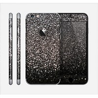 The Black Unfocused Sparkle Skin for the Apple iPhone 6