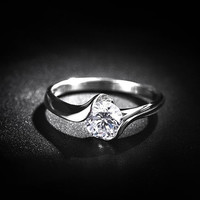 H&A 0.8 CT Platinum woman ring, Wedding Couples Rings, Lovers rings, his and hers promise ring sets, wedding band, Engagement Ring