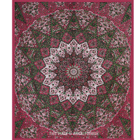 Big Maroon Indian Star Mandala Wall Tapestry Bohemian Bedding Bedspread on RoyalFurnish.com