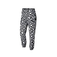 Nike Men's Big Swoosh White Black Woven Pants