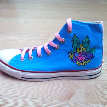 Diamond Shoes  Converse by denimtrend on Etsy