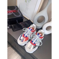 Versace Men's And Women's 2021 NEW ARRIVALS Chain Reaction Sneakers Shoes