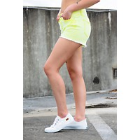 YMI Highlighter Shorts- Yellow