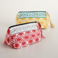 Tile Printed Cosmetic Bags, Set of 2 | World Market