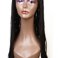 "Braided Handmade Lace Front Large Box Braids Wig 28""-30"""