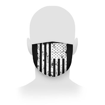 American Flag Black and White Face Mask Cloth Face Mask