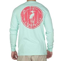 Wood Grain Long Sleeve Tee Shirt in Island Reef by Waters Bluff