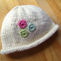 Organic baby hat- Dot Trio with multiple color options, fairtrade, USA made cotton