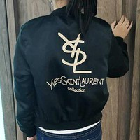 YSL Yves Saint laurent Fashion Long Sleeve Cardigan Jacket Coat Windbreaker