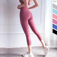 High Waist Lulu Yoga Pants Gym Tights Running Leggings Pants Woman Capris Leggins Sport Women Fitness Clothing Sports Clothes