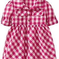 Gingham-Print Shirtdresses for Baby