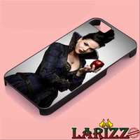 """ONCE UPON A TIME-THE EVIL QUEEN HOLDING APPLE for iphone 4/4s/5/5s/5c/6/6+, Samsung S3/S4/S5/S6/s6 edge, iPad 2/3/4/Air/Mini, iPod 4/5, Samsung Note 3/4 Case """"007"""""""