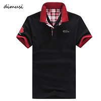 DIMUSI POLO Shirt Men Summer Casual Cotton Floral Collar Short Sleeve Shirts Camisas Polo ShirtsSolid Mens Polos 5XL,YA597