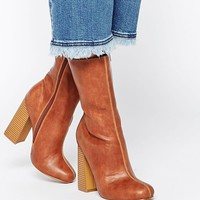 Truffle Collection   Truffle Collection Nia Calf Heeled Ankle Boots at ASOS