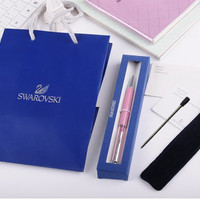 New 2016 Swarovski crystal pen Ballpoint pen with brand logo box Bag crystals Pen wedding Xmas Christmas gift stationery