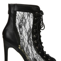 Lana Lace Booties - Black