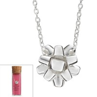 Sterling Silver Christmas Bow Necklace (Grey)
