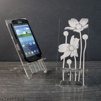 Samsung Galaxy S3 Android Phone Stand Docking Station Melody Flowers