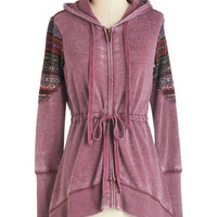 ModCloth Travel Mid-length Long Sleeve Hoodie Om Is Where the Heart Is Hoodie
