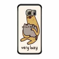 Pusheen Cat And Sloth Samsung Galaxy S6 Edge Case
