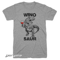 Winosaur T Shirt Funny Dinosaur trex T Shirt Gifts For Wine Lovers Wine Tasting