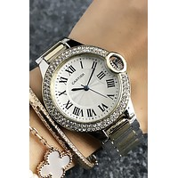 8DESS Cartier Woman Men Fashion Quartz Classic Wristwatch Watch