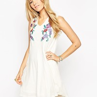 ASOS Swing Dress in Neppi and Coloured Embroidery at asos.com