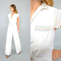 70's Rainbow BELLBOTTOM Jumpsuit