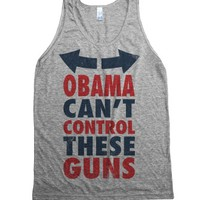 Athletic Grey Tank | Funny Political Workout Shirts