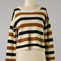 Down To Earth Cropped Sweater (Ivory)