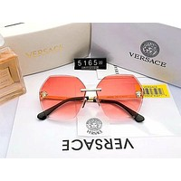 Versace Personality Frameless Women's Gradient Trimming Color Film Polarized Sunglasses