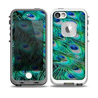 The Neon Multiple Peacock Skin for the iPhone 5-5s fre LifeProof Case