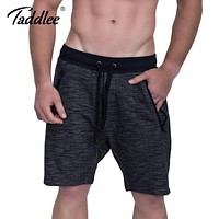 Men Shorts Fitness Calf-Length Jogger Sweatpants Workout Casual Loose Short Trousers Soft Bottom Gasp Trunk